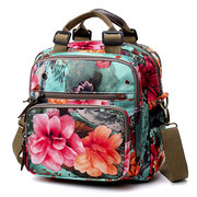 National Style Outdoor Flower Pattern Shoulder Bag Crossbody Bag Mommy Backpack For Women