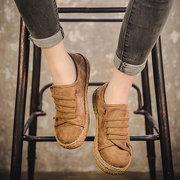 Camurça sapatos planos casuais deslizamento de preguiçoso palmilha macia para mulheres