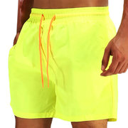 Summer Quick Dry Water Repellent Sport Drawstring Solid Color Board Shorts for Men
